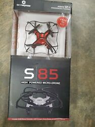 Sky Drones S 85 High Powered Red Micro Mini Drone By Braha 18b $33.99