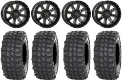 System 3 ST 4 Black 14quot; Wheels 28quot; X COMP Tires Yamaha Grizzly Rhino $1320.56
