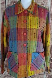 Resort Wear North Womens Jacket L Colorful Button Up $14.99