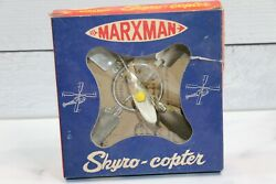 Vintage Marxman Skyro Copter Flying Helicopter Toy Original Box $160.00
