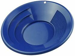 10quot; Blue Plastic Gold Mining Pan with Two Types of Riffles $6.75