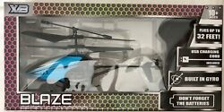 Blaze Small RC Heliocopter Black and Blue $9.23