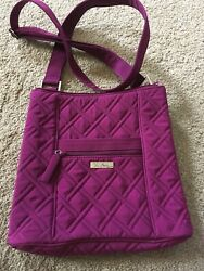 Vera Bradley Purse Quilted Fabric Quilted Cross Body. Raspberry $20.00