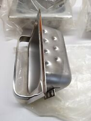 COMMERCIAL IN WALL STAINLESS SOAP HOLDER NOS