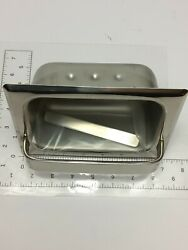 COMMERCIAL IN WALL STAINLESS SOAP HOLDER NIB