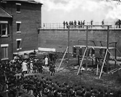 New Photo: Hanged Bodies of Abraham Lincoln Assassination Conspirators - 6 Sizes $2.99