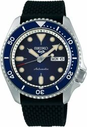 Seiko 5 Automatic Blue Dial Rubber Strap Men#x27;s Automatic Watch *SRPD93 $179.00
