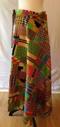 Womens Rainbow Wrap Skirt - One Size - Vibant African Tribal Hippie Boho  $39.99