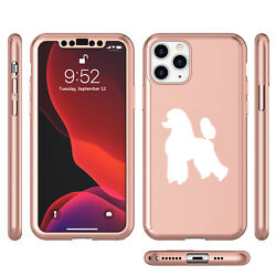 For Apple iPhone 11 360° Thin Slim Case Cover Glass Screen Protector Poodle $14.99
