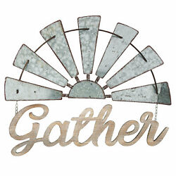 Gather Windmill Wall Decor Sign 27quot; 1 Piece Rustic Farmhouse Home Decor $42.92