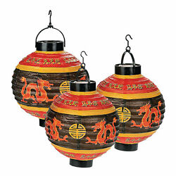 Light Up Chinese Lanterns Party Decor 3 Pieces $20.58
