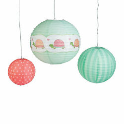 Girl Turtle Hanging Paper Lanterns Party Decor 6 Pieces $11.68