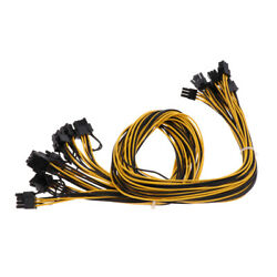 8Pcs 6 Pin PCI e To 8 Pin 62 PCI e Power Cable 70cm For Graphic Cards GPU $25.08