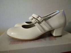 New Girls White Dress Party shoes sizes 13.5 2 3 3.5 4 4.5 5 $10.00