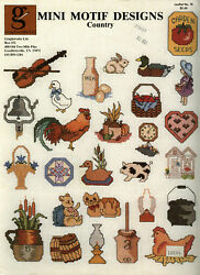Country Mini Motif Designs Counted Cross Stitch Pattern Graphworks Ltd. 18 $5.00