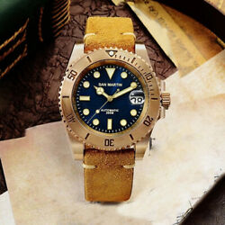San Martin Men's Vintage Bronze Diver Watches Automatic NH35 Movement Watch new  $275.00