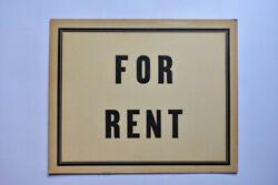 Antique FOR RENT Sign House Apartment Room Shop Store Car Vintage Advertising $12.74