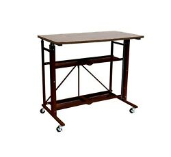 Refurbished  UP2U Up Down sit to stand desk brown color ONLY for Home office  $159.99