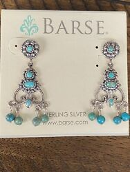 Vintage Barse Sterling Silver Turquoise Chandelier Earrings $39.00