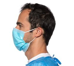 5 10 or 20 Blue Disposable Medical Surgical Protection Dust Filter Face Masks $9.49