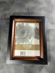 5x7 WOODEN PICTURE FRAME DESK PHOTO OFFICE TWO TONE WOOD STAINED HANGING FAMILY $14.99