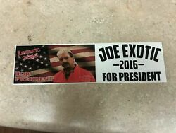 Tiger King Joe Exotic for President 2016 Bumper Sticker Decal QUICK SHIP $9.95