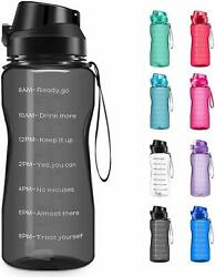 Motivational Water Bottle BPA Free 2.2L64oz  Jug with Straw and Time Tracker $18.95