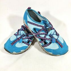 Chaco Girls Size 5 Blue Outcross Shoes Water Sport Hiking Kids Elastic J180198 $23.77