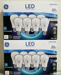 GE LED 9W Bulbs Soft White A19 (60W Equivalent) 2 8 pack packages 16 bulbs total $17.95