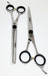 7 Inch Professional Barber Scissor & Thinning Set Stylish Scissor Barber Salon $60.00