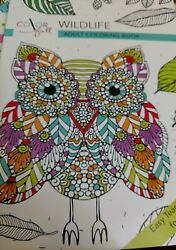 Color Full Wildlife Adult Coloring Book