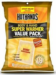 HotHands  Hot Hands SUPER Warmer Value Pack - 10 Super Warmers - EXP 2023 $9.00