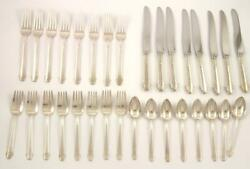 1930 Gorham Sterling Silver 32 Piece Silverware Flatware Set~Hunt Club Pattern $975.00