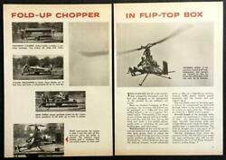 Dornier Do 32E Helicopter 1963 pictorial German prototype Collapsible 1man $6.89