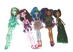 Monster High Swimsuit Doll Set with Frankie Draculaura Ghoulia Claudine Cleo $34.50