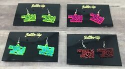 New Kids On The Block Earrings NKOTB Set Lot of 4 Different Pairs BEST DEAL EVER $19.99