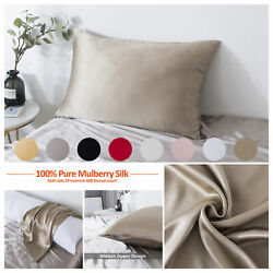 Mulberry Silk Pillowcase for Hair and Skin Pillow Case Cover with Hidden Closure $18.99