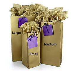 x5 Gold Gift Bag Kit Large with Tissue Paper amp; Gift Tag BRAND NEW $10.00