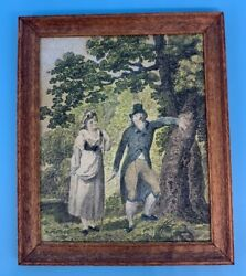 1:12 by Petite Antiquary 1793 antique engraving tinted amp; framed for dollhouse $67.00