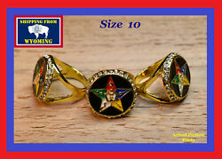 Order of the Eastern Star Ring ~ Size 10 ~ Free Shipping from WY $11.99