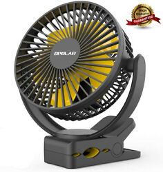 New Rechargeable Battery Operated Clip On Fan Super Quiet & Strong Wind USB Fan $39.99
