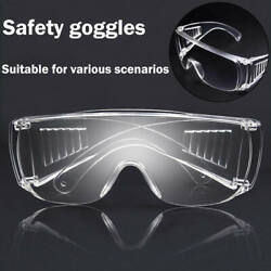 Clear Safety Anti Fog Goggles Glasses for Work Lab Outdoor Eye Protection US $6.99