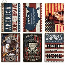 USA Metal Sign Retro Poster License Plate Plaque Tin Vintage Home Decor State $14.98