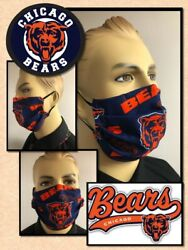 Chicago Bears DELUXE Face Mask With Nose WIRE  Mens Large  OR   Ladies Medium   $17.78