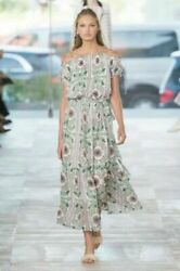 Tory Burch Floral Dress 8 Runway M Runway 2017 Celeb Garden Party Asilomar