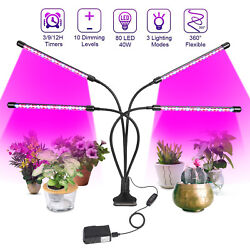 4 Heads LED Grow Light Plant Growing Lamp Lights for Indoor Plants Hydroponics $25.99
