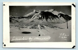 Silverton CO 1900s AERIAL BIRDS EYE OF SMALL MINING TOWN BY MOONLIGHT RPPC $61.74
