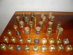 Mixed lot of 39 vintage lamp light chandelier socket shells and bottoms. Parts $19.99