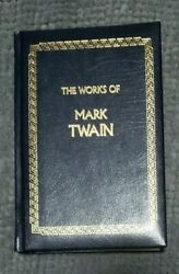 The Works Of Mark Twain Leather Bound Hardcover Longmeadow Press 1990