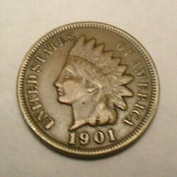 1901 P Indian Head Cent Penny  *VF  - VERY FINE*  **FREE SHIPPING**